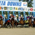 A full field led by Mr. Z  head to the gate in Saturday's $1 million Delta Jackpot at Delta Downs. (Photo credit: Delta Downs).
