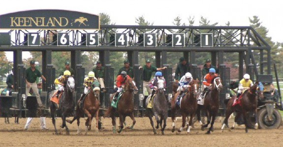 A field of 11 go to the gate in Saturday's Coolmore Lexington at Keeneland (Photo credit: Keeneland .com)