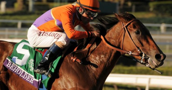Beholder was ruled out of the Breeders' Cup Distaff after spiking a fever on Sunday.  (Photo credit: Breeders' Cup Ltd.)