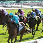 Lady Eli remained undefeated by winning the Belmont Oaks. (Photo credit: New York Racing Association).