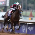 Defending Breeders' Cup Distaff champion Untapable will miss this year's edition after spiking a fever. (Photo credit: Breeders' Cup Ltd.).