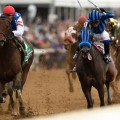 Breeder' Cup Sprint (G1) runner up Private Zone (right) is the favorite for Saturday's Cigar Mile (G1) at Aqueduct (Photo credit: Breeders' Cup Ltd.).