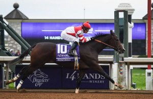 2015 Breeders' Cup Juvenile Fillies champ Songbird is undefeated and the likely favorite for the Breeders' Cup Distaff.(Photo credit: Breeders' Cup Ltd.)