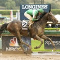 Exaggerator won the Santa Anita Derby (G1) stamping his ticket to Louisville for the Kentucky Derby (G1). (Photo credit: Santa Anita Park).