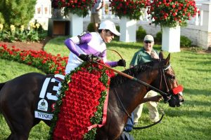 Nyquist remained undefeated wiith his win in the Kentucky Derby (G1). (Photo credit: Churchill Downs).
